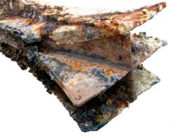 photo of damaged portion of Egadi 4 ram