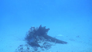 photo of Egadi 4 ram on seafloor