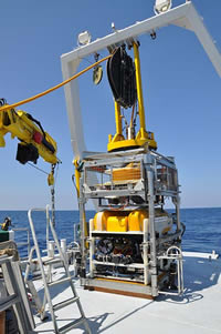 photo of RPMNF ROV on deck of Hercules