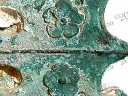 photo showing close of rose decoration on Egadi 1 ram