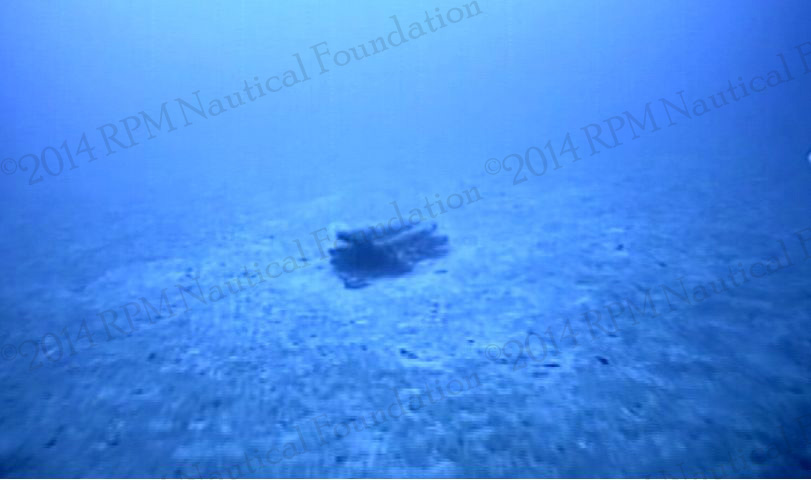 photo of the Egadi 2 Ram on the seafloor